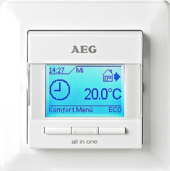 digital raum thermostat temperatur regler lcd touch screen uhren programm wasser ebay. Black Bedroom Furniture Sets. Home Design Ideas